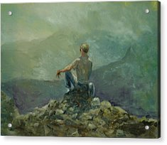 On The Top Of The Rockpile Acrylic Print by Aline Lotter