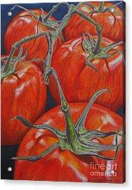 On The Vine Acrylic Print by Lori Lutkenhaus