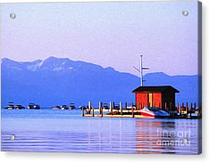 Acrylic Print featuring the photograph On The Water by Anne Raczkowski