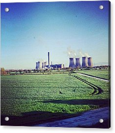 On The Way To #liverpool #green Acrylic Print
