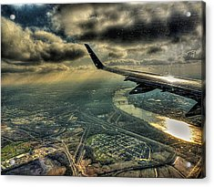 Acrylic Print featuring the photograph On The Wing by William Fields
