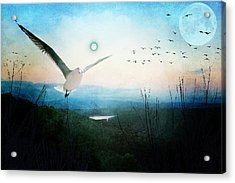 Once There Were Two Moons Acrylic Print