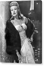 Once Upon A Honeymoon, Ginger Rogers Acrylic Print by Everett