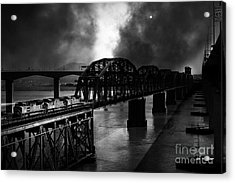 Once Upon A Time In The Story Book Town Of Benicia California - 5d18849 - Black And White Acrylic Print by Wingsdomain Art and Photography