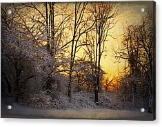 Acrylic Print featuring the photograph Once Upon A Winter Morning.. by Yelena Rozov