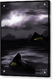 One Dark Night Acrylic Print by J Kinion