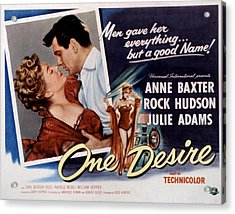 One Desire, Anne Baxter, Rock Hudson Acrylic Print by Everett