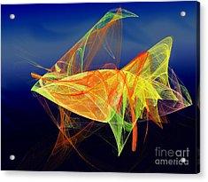 One Fish Rainbow Fish Acrylic Print by Andee Design