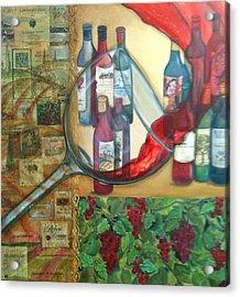 One Glass Too Many  Acrylic Print by Debi Starr