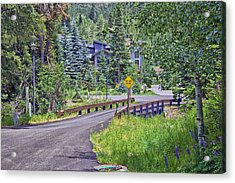 One Lane Bridge - Vail Acrylic Print by Madeline Ellis