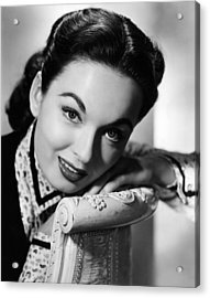 One Minute To Zero, Ann Blyth, 1952 Acrylic Print