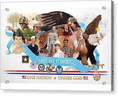 One Nation Under God Acrylic Print by Chuck Hamrick