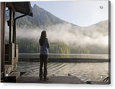 One Person, Woman, Mid Adult, 30-35 Acrylic Print by Taylor S. Kennedy