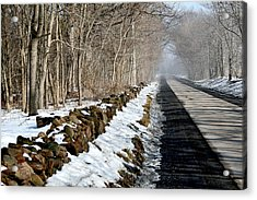 One Track Road Acrylic Print