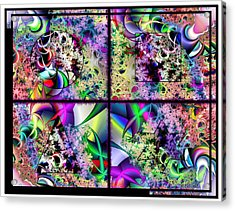 One Weirdass Design Acrylic Print