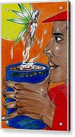 One Wish Tea Acrylic Print by Lorenzo Depluzer