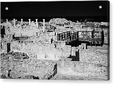 Ongoing Archeological Dig At The House Of Dionysos Roman Villa At Paphos Archeological Park Cyprus Acrylic Print by Joe Fox