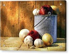 Onion Harvest Acrylic Print by Sandra Cunningham