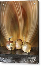 Acrylic Print featuring the digital art Onions by Johnny Hildingsson
