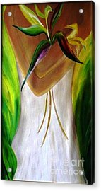 Acrylic Print featuring the painting Only For You by AmaS Art