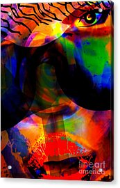 Only You Can See Me Acrylic Print by Fania Simon