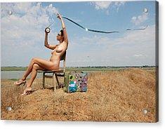 Open Air Cinema Acrylic Print by Svetlana  Sokolova