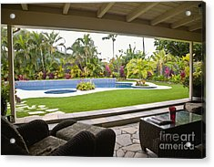 Open Air Luxury Patio Acrylic Print by Inti St. Clair