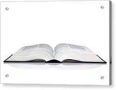 Open Book Acrylic Print by Richard Thomas