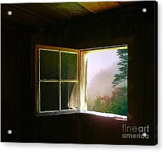 Open Cabin Window In Spring Acrylic Print
