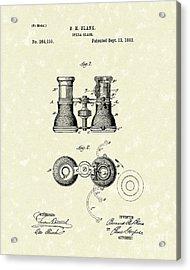 Opera Glass 1882 Patent Art Acrylic Print by Prior Art Design