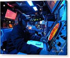 Operations Specialist Stands Watch Acrylic Print