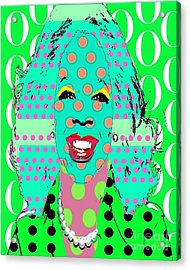 Oprah Acrylic Print by Ricky Sencion