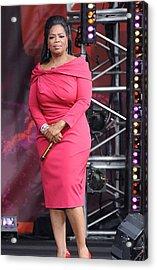 Oprah Winfrey At Talk Show Appearance Acrylic Print by Everett