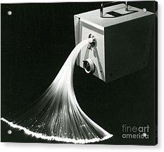 Optical Fibers Acrylic Print by Omikron