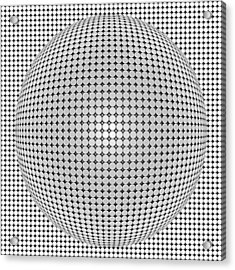 Optical Illusion Plastic Ball Acrylic Print