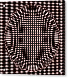 Optical Illusion Red Ball  Acrylic Print by Sumit Mehndiratta