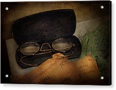 Optometrist - Glasses For Reading  Acrylic Print by Mike Savad