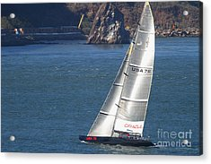 Oracle Racing Team Usa 76 International America's Cup Sailboat . 7d8069 Acrylic Print by Wingsdomain Art and Photography