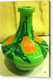 Orange Bells Acrylic Print by Berta Barocio-Sullivan