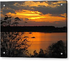 Orange Blue Sunset Acrylic Print