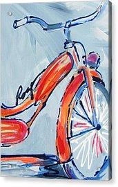 Orange Boomer Bike Acrylic Print