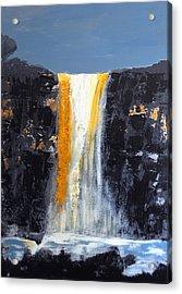 Orange Cascade Acrylic Print by Rob Heath
