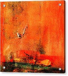 Orange Glow Acrylic Print by Carolyn Repka