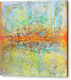 Orange Interference Acrylic Print by Lolita Bronzini