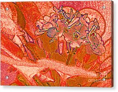 Orange Joy Acrylic Print by First Star Art