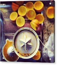 #orange #juice #goodmorning #morning Acrylic Print