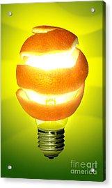 Orange Lamp Acrylic Print by Carlos Caetano