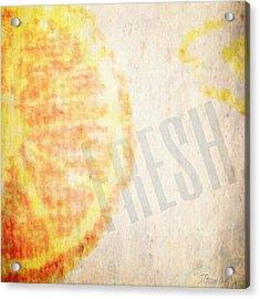Orange. #orange #fresh #slices #slice Acrylic Print