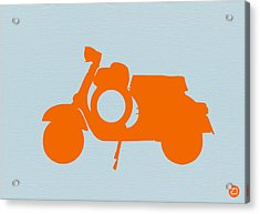 Orange Scooter Acrylic Print by Naxart Studio