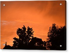 Orange Sky Acrylic Print by Naomi Berhane